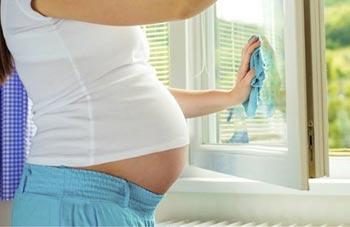 Домашние дела во время беременности